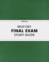 [MUS1301] - Final Exam Guide - Everything you need to know! (33 pages long)