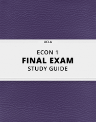 [ECON 1] - Final Exam Guide - Everything you need to know! (23 pages long)
