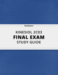 [KINESIOL 2C03] - Final Exam Guide - Ultimate 78 pages long Study Guide!