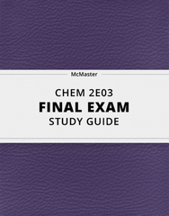 [CHEM 2E03] - Final Exam Guide - Ultimate 102 pages long Study Guide!