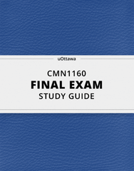 [CMN1160] - Final Exam Guide - Comprehensive Notes for the exam (28 pages long!)