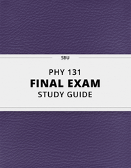 [PHY 131] - Final Exam Guide - Ultimate 40 pages long Study Guide!