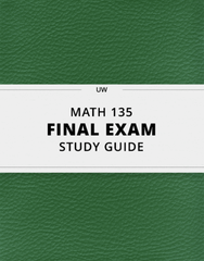 [MATH 135] - Final Exam Guide - Everything you need to know! (106 pages long)