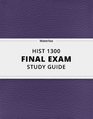 [HIST 1300] - Final Exam Guide - Comprehensive Notes for the exam (38 pages long!)