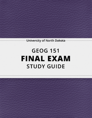 [GEOG 151] - Final Exam Guide - Ultimate 40 pages long Study Guide!