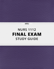 [NURS 1112] - Final Exam Guide - Comprehensive Notes for the exam (61 pages long!)