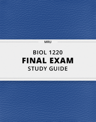 [BIOL 1220] - Final Exam Guide - Ultimate 36 pages long Study Guide!