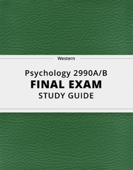 Psychology 2990A/B Final: [Psychology 2990A/B] - Final Exam Guide - Ultimate 75 pages long Study Guide!