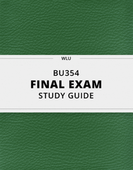 [BU354] - Final Exam Guide - Ultimate 41 pages long Study Guide!
