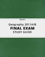 [Geography 2011A/B] - Final Exam Guide - Everything you need to know! (31 pages long)