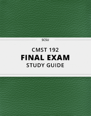 [CMST 192] - Final Exam Guide - Ultimate 40 pages long Study Guide!