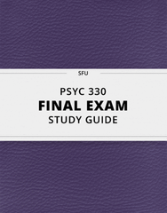 [PSYC 330] - Final Exam Guide - Everything you need to know! (28 pages long)