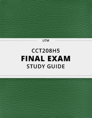 [CCT208H5] - Final Exam Guide - Everything you need to know! (34 pages long)