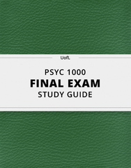 [PSYC 1000] - Final Exam Guide - Ultimate 22 pages long Study Guide!