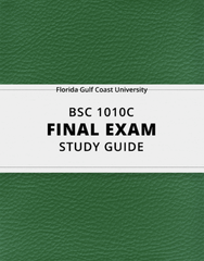 [BSC 1010C] - Final Exam Guide - Everything you need to know! (26 pages long)