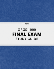 [ORGS 1000] - Final Exam Guide - Comprehensive Notes for the exam (76 pages long!)