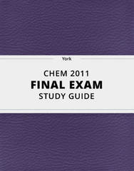 [CHEM 2011] - Final Exam Guide - Comprehensive Notes for the exam (87 pages long!)