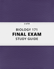 BIOLOGY 171 Final: [BIOLOGY 171] - Final Exam Guide - Ultimate 87 pages long Study Guide!