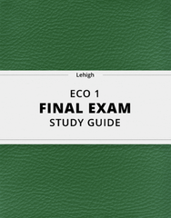 [ECO 1] - Final Exam Guide - Comprehensive Notes for the exam (31 pages long!)