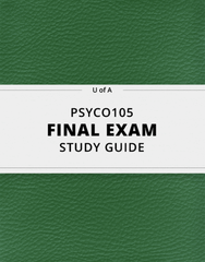 [PSYCO105] - Final Exam Guide - Everything you need to know! (62 pages long)