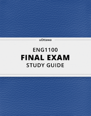 [ENG1100] - Final Exam Guide - Comprehensive Notes for the exam (30 pages long!)