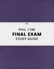 [PHIL 1180] - Final Exam Guide - Everything you need to know! (87 pages long)