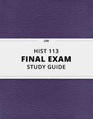 [HIST 113] - Final Exam Guide - Everything you need to know! (59 pages long)