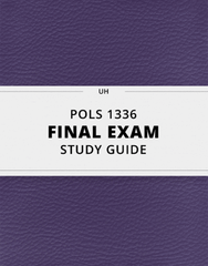 [POLS 1336] - Final Exam Guide - Everything you need to know! (46 pages long)