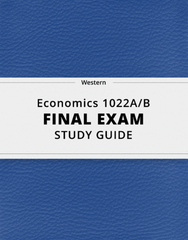 [Economics 1022A/B] - Final Exam Guide - Everything you need to know! (57 pages long)