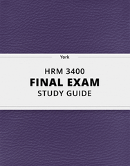 [HRM 3400] - Final Exam Guide - Comprehensive Notes for the exam (56 pages long!)