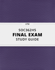 [SOC362H5] - Final Exam Guide - Comprehensive Notes for the exam (63 pages long!)