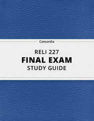 [RELI 227] - Final Exam Guide - Ultimate 31 pages long Study Guide!