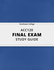 [ACC120] - Final Exam Guide - Everything you need to know! (30 pages long)
