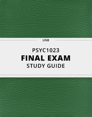 [PSYC1023] - Final Exam Guide - Comprehensive Notes for the exam (54 pages long!)