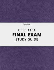 [CPSC 1181] - Final Exam Guide - Comprehensive Notes for the exam (84 pages long!)