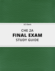 [CHE 2A] - Final Exam Guide - Comprehensive Notes for the exam (54 pages long!)