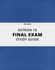 [ASTRON 10] - Final Exam Guide - Everything you need to know! (63 pages long)