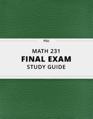 [MATH 231] - Final Exam Guide - Comprehensive Notes for the exam (65 pages long!)