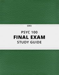 [PSYC 100] - Final Exam Guide - Comprehensive Notes for the exam (30 pages long!)