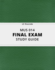 [MUS 014] - Final Exam Guide - Everything you need to know! (23 pages long)