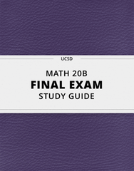 [MATH 20B] - Final Exam Guide - Ultimate 37 pages long Study Guide!