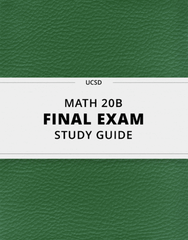 [MATH 20B] - Final Exam Guide - Everything you need to know! (64 pages long)