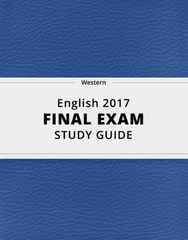 [English 2017] - Final Exam Guide - Everything you need to know! (40 pages long)