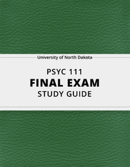 [PSYC 111] - Final Exam Guide - Comprehensive Notes for the exam (38 pages long!)