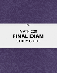 [MATH 220] - Final Exam Guide - Everything you need to know! (28 pages long)