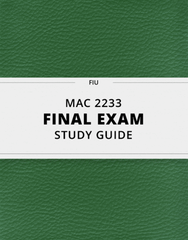 [MAC 2233] - Final Exam Guide - Ultimate 57 pages long Study Guide!