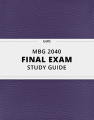 [MBG 2040] - Final Exam Guide - Comprehensive Notes for the exam (40 pages long!)