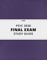 [PSYC 3030] - Final Exam Guide - Comprehensive Notes for the exam (136 pages long!)