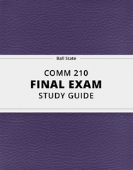 [COMM 210] - Final Exam Guide - Comprehensive Notes for the exam (22 pages long!)