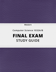 [Computer Science 1032A/B] - Final Exam Guide - Ultimate 27 pages long Study Guide!